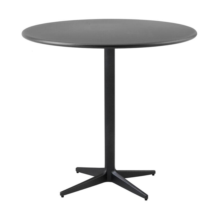 Drop cafébord i lavagrått i storleken 80 cm i diameter.