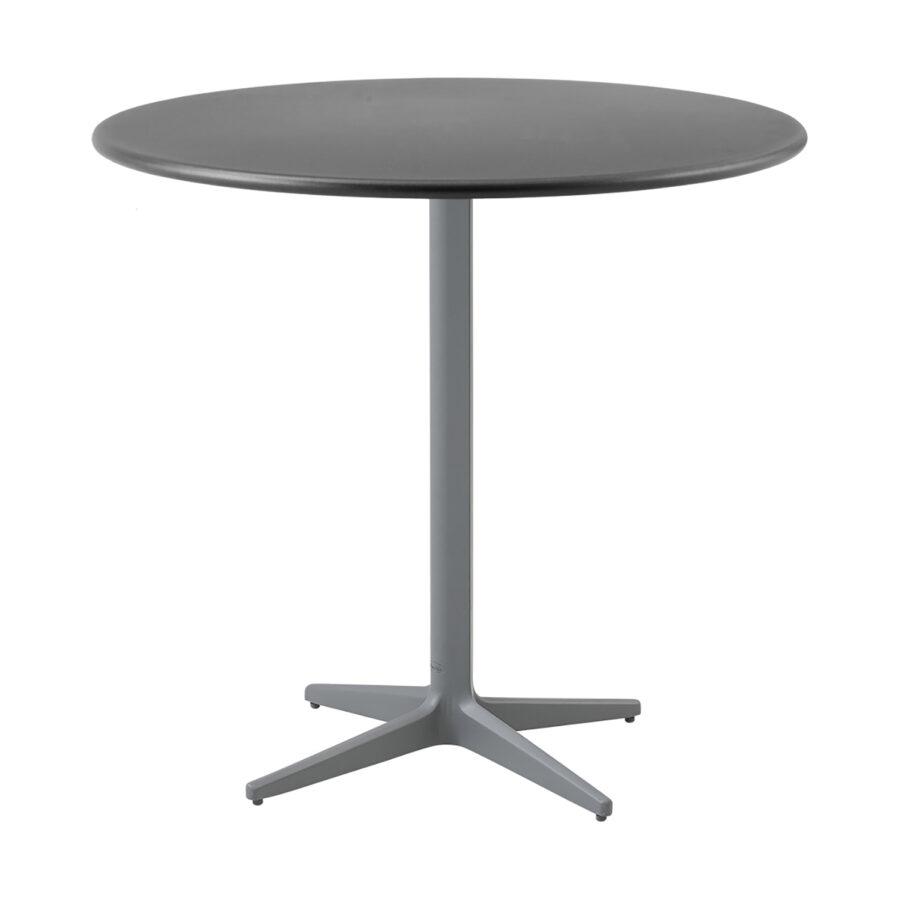 Drop cafébord i ljusgrått och lavagrått i storleken 80 cm i diameter.