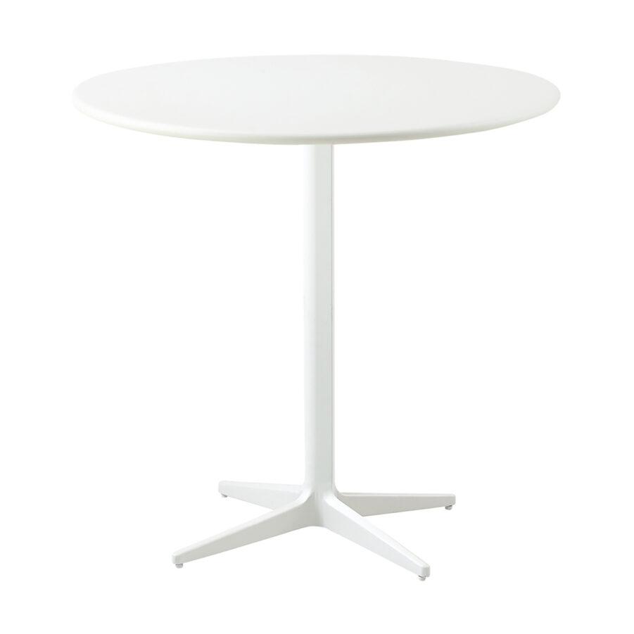 Drop cafébord i vitt i storleken 80 cm i diameter.