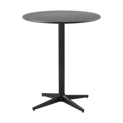 Drop cafébord i lavagrått i storleken 60 cm i diameter.