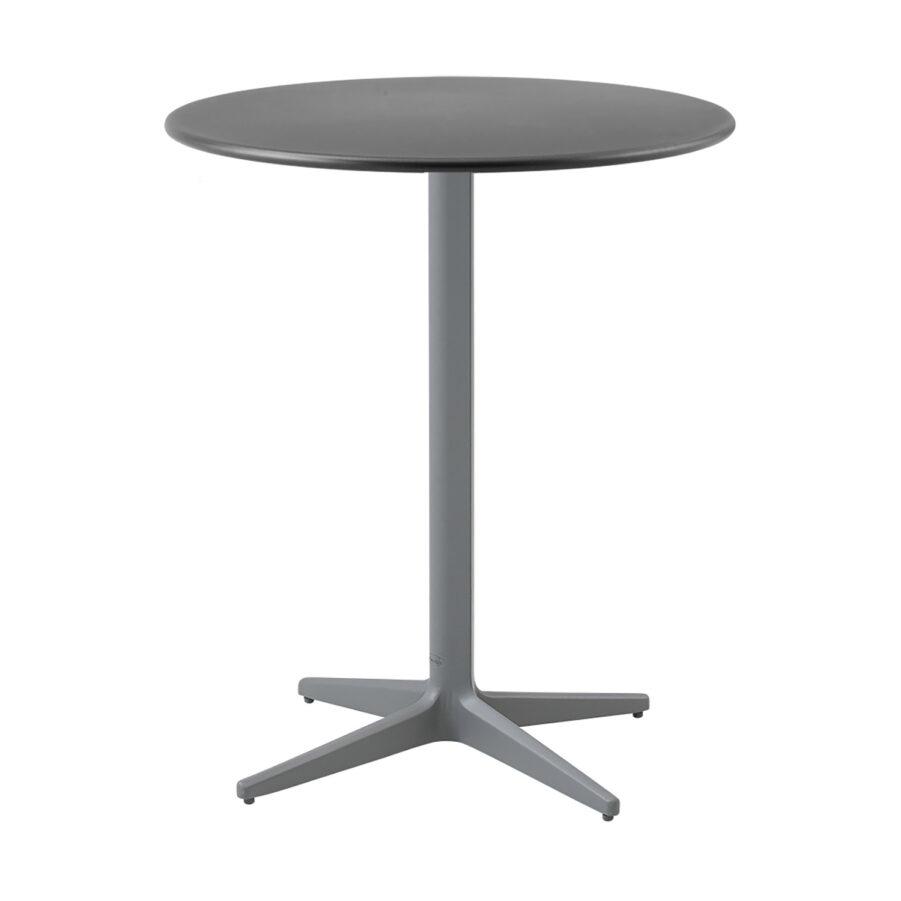 Drop caf´bord i ljusgrått och lavagrått i storleken 60 cm i diameter.