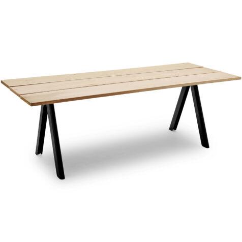 Overlap matbord med ben i antracitgrått.