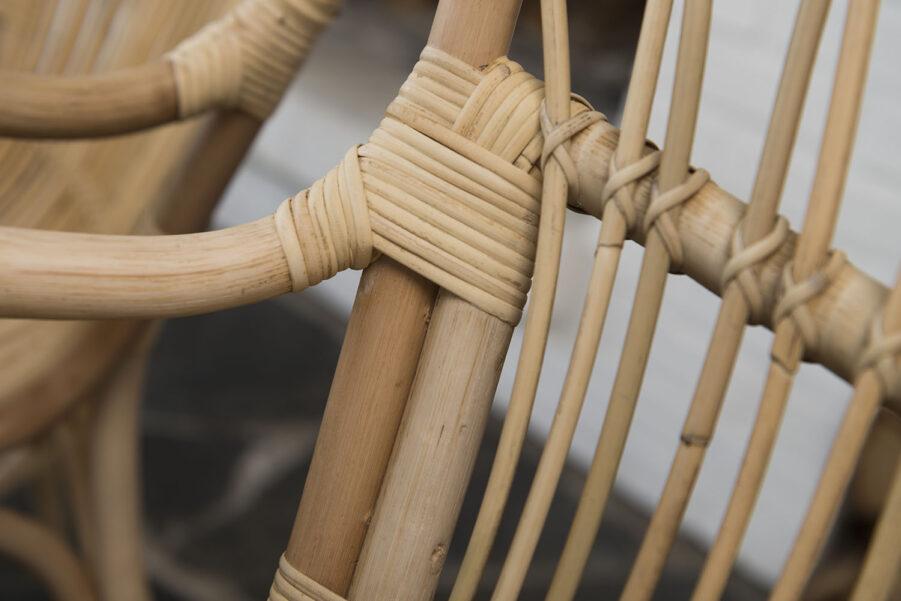 Detaljbild på Lyckesö stol.