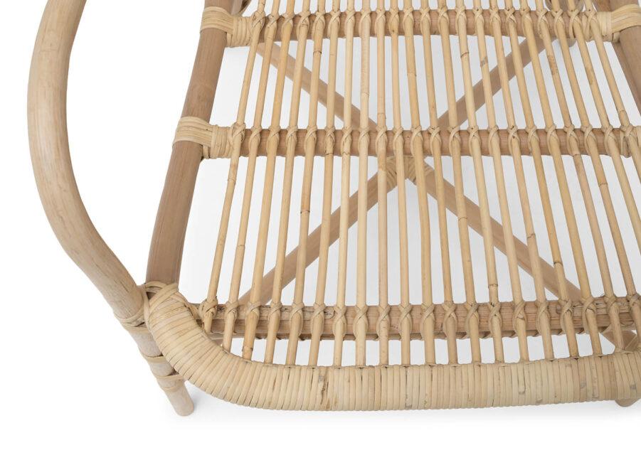Detaljbild på Lyckesö karmstol.