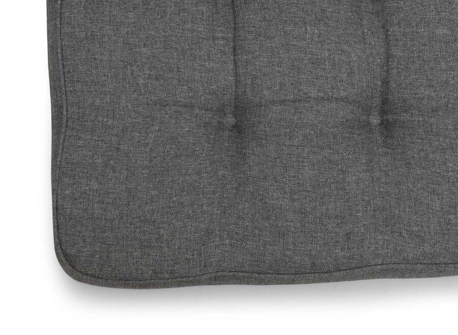 Detaljbild på Sittdyna från Hillerstorp i grå melange polyester.