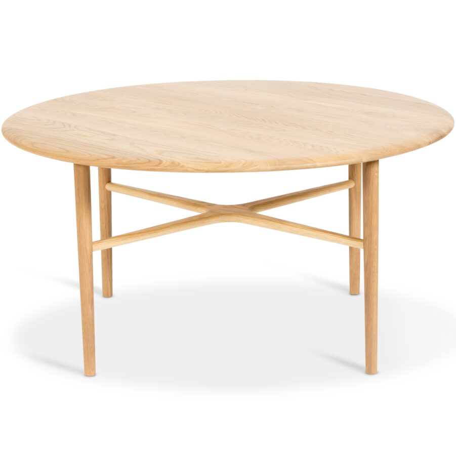Crest soffbord i ek med diametern 100 cm, från varumärket Mavis.