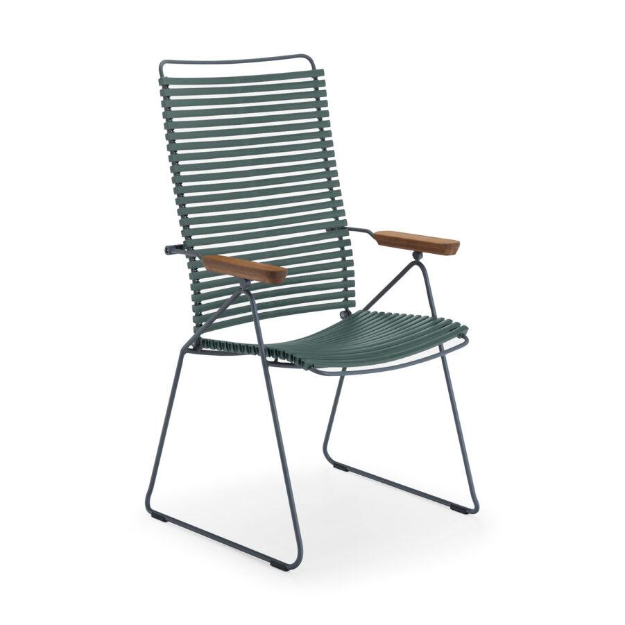 Click positionsstol i färgen tallgrön.