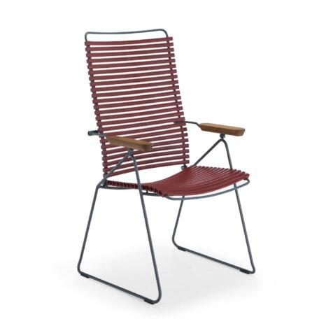Click positionsstol i färgen paprika.