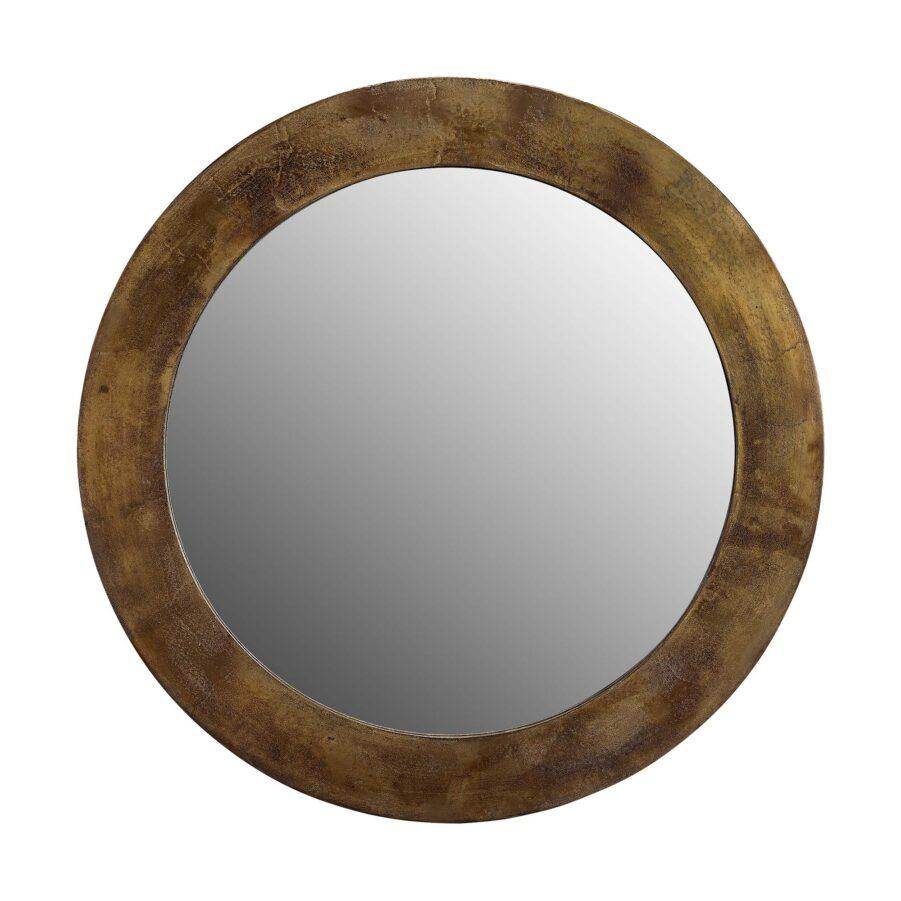Spegel Enya i mässingsfärg från Artwood.