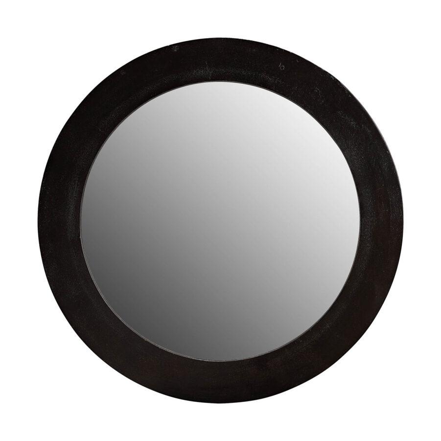 Enya spegel i svart aluminium.