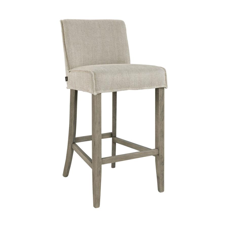 Rivoli barstol i tyget linne sand från Artwood.