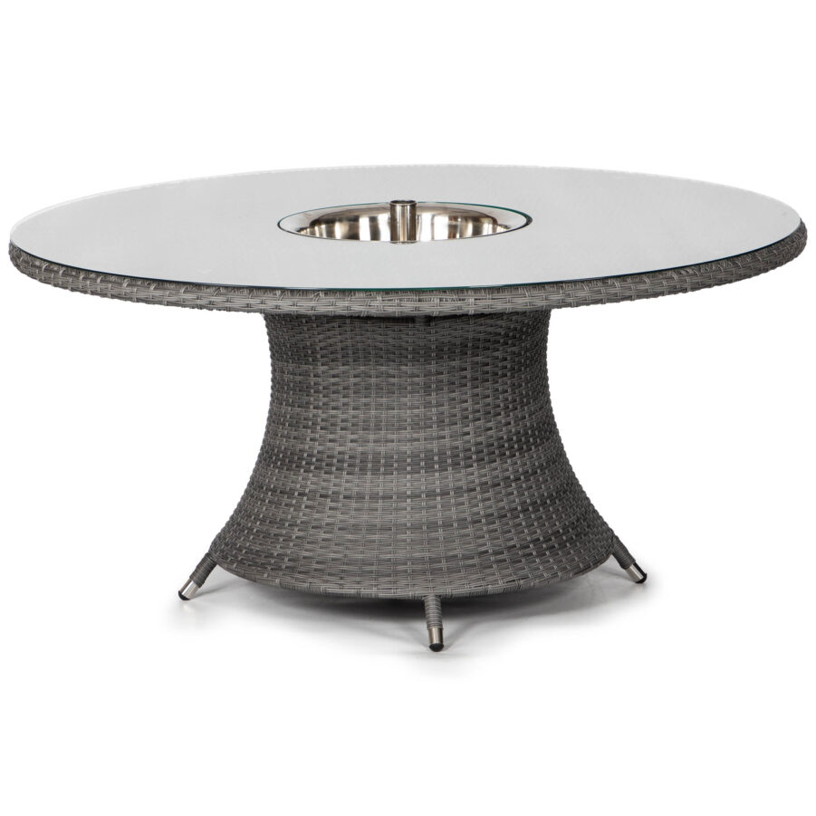 Windsor bord Ø150 cm i med antracitgrå konstrotting men dryckeskyl.
