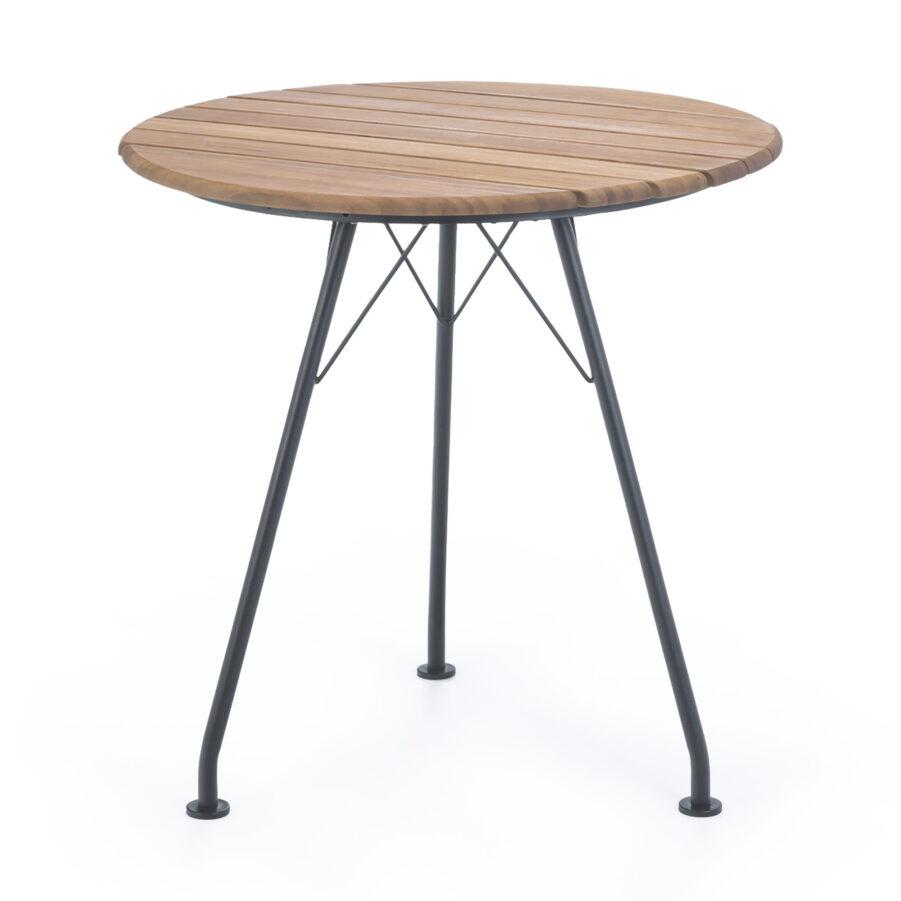 Circum cafébord i stål och bambu.