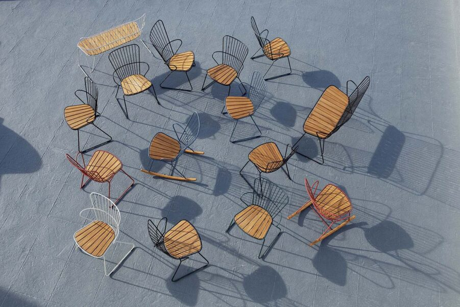 Miljöbild på flera produkter i serien Paon från Houe.