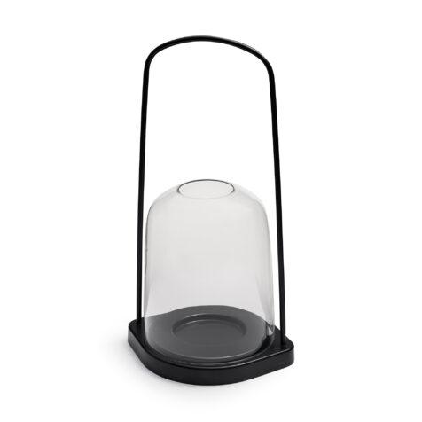Bell ljuslykta från Skagerak i antracitgrått.