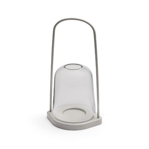 Ljusgrå ljuslykta Bell från Skagerak.