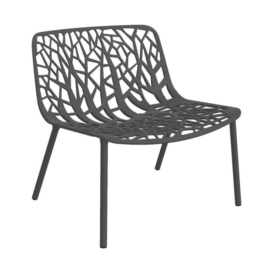 Forest loungestol i Metallic grey från Fast.
