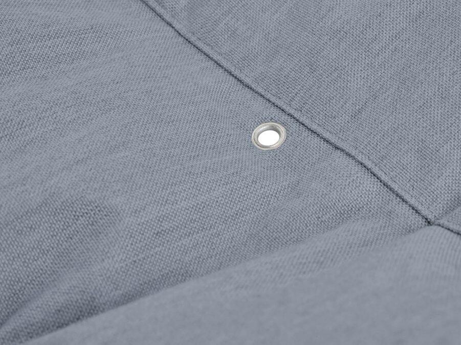 En närbild på Fatboy Headdemock Sunbrella Steel blue.