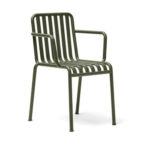 Produktbild på Palissade karmstol från Hay i färgen olivgrö.