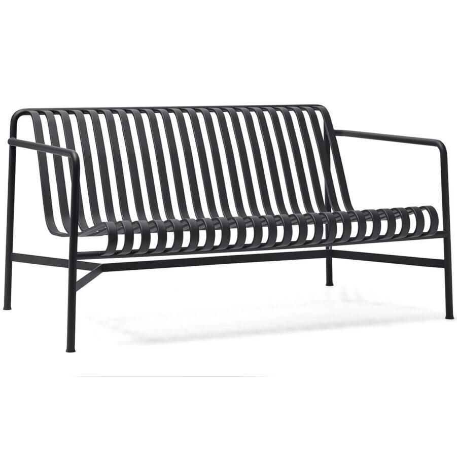 Produktbild av loungesoffan Palissade i färgen antracitgrå.