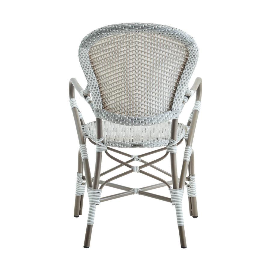 Bild på Isabell karmstol i färgen taupe.
