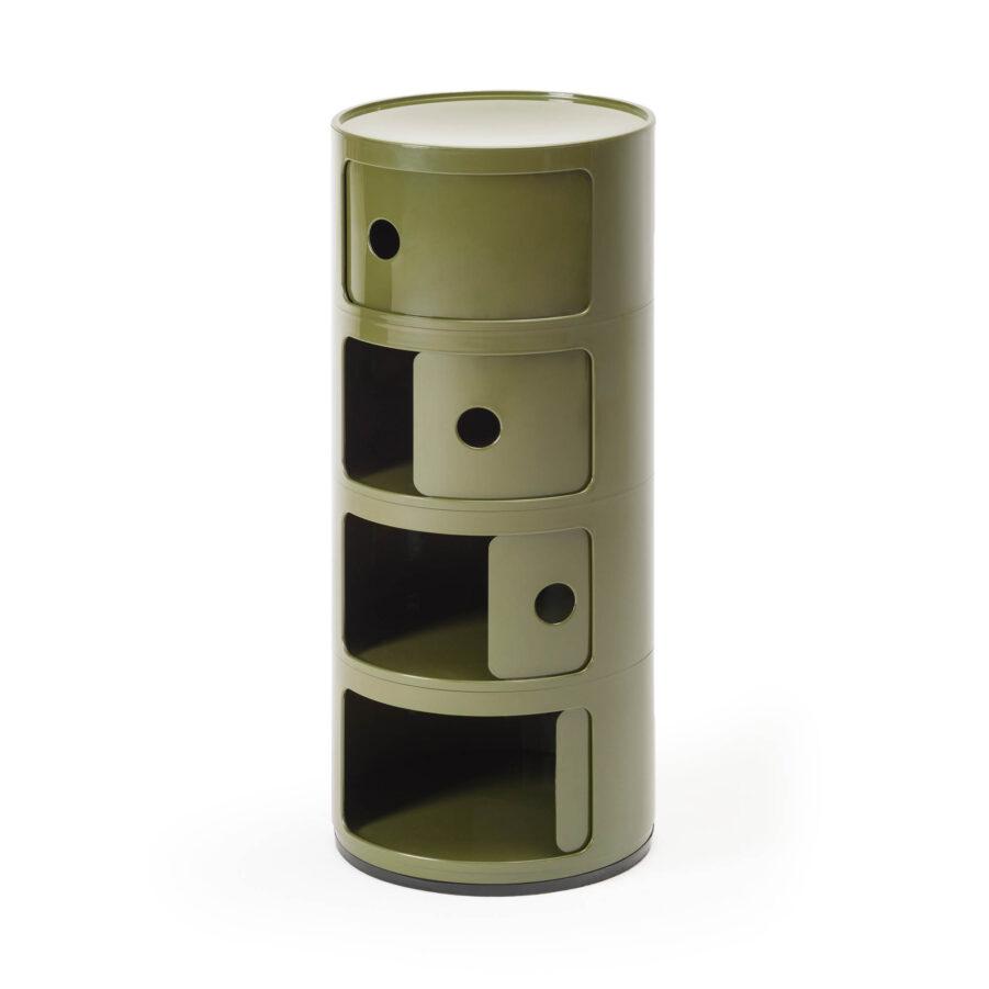 Componobili skåp med yra hyllor i grönt från varumärket Kartell.