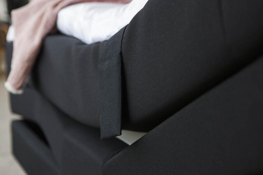 En närbild på Carpe Diems Saltö ställbar säng.