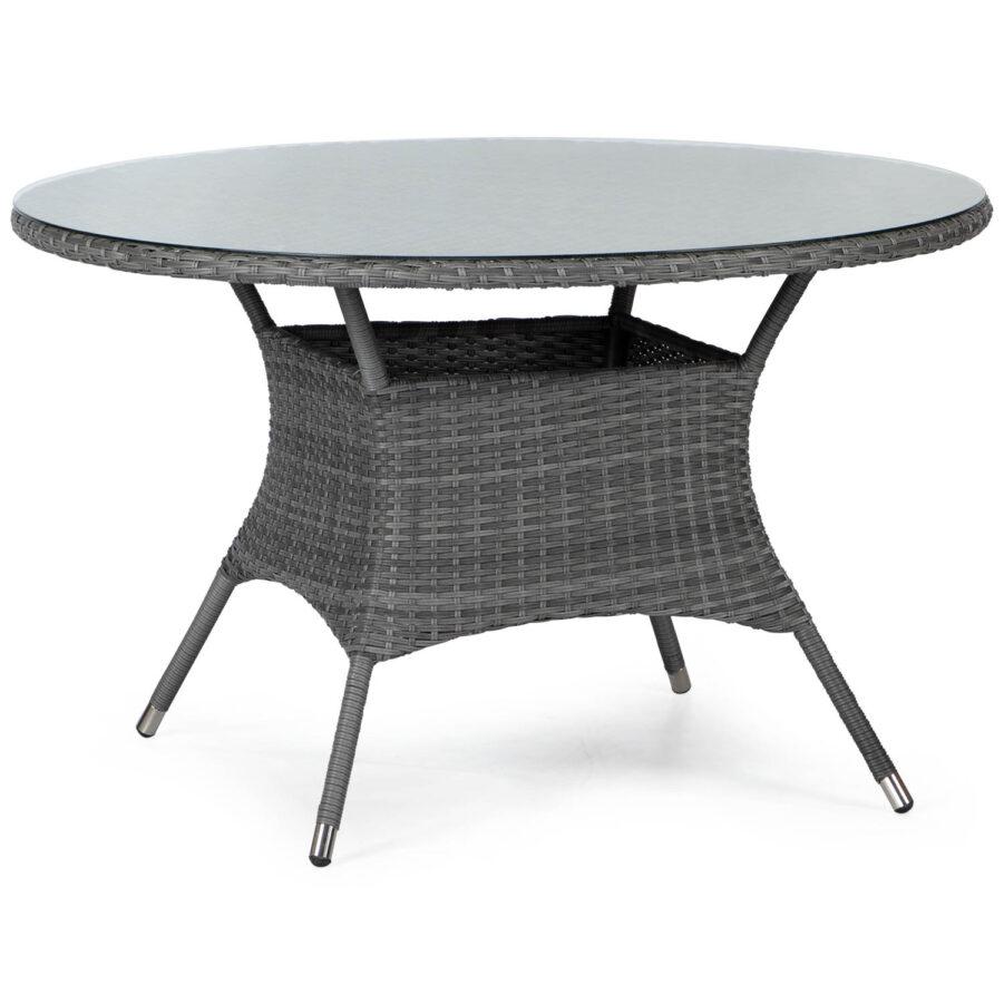 Windsor matbord Ø120 cm i mörkgrå konstrotting från Atleve.