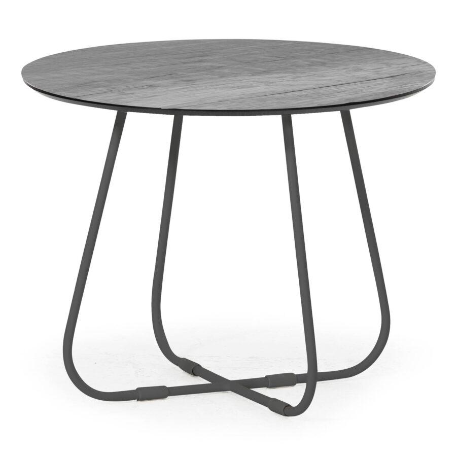 Taverny litet soffbord med antracitgrått stativ.