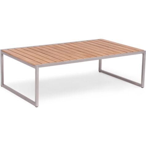 Bild på Kaxheden soffbord med stomme i aluminium och skiva i teak.