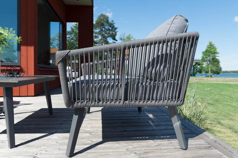 Detaljbild på Hunneslätt soffa från Hillerstorp.