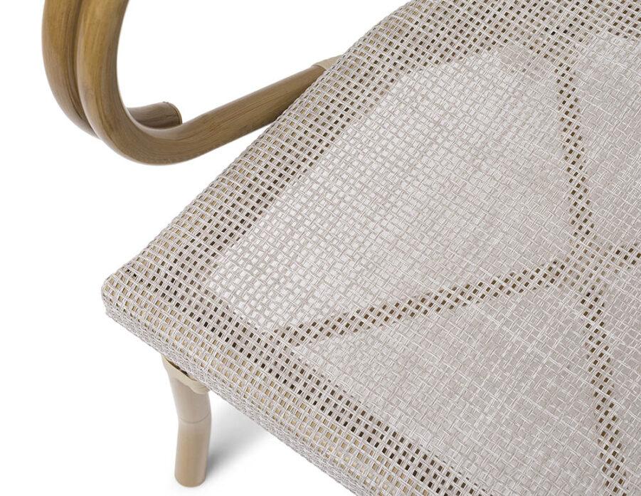 Detaljbild på sitsen till Äppelhed caféstol
