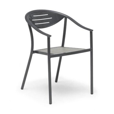 Åminne caféstol i grått.
