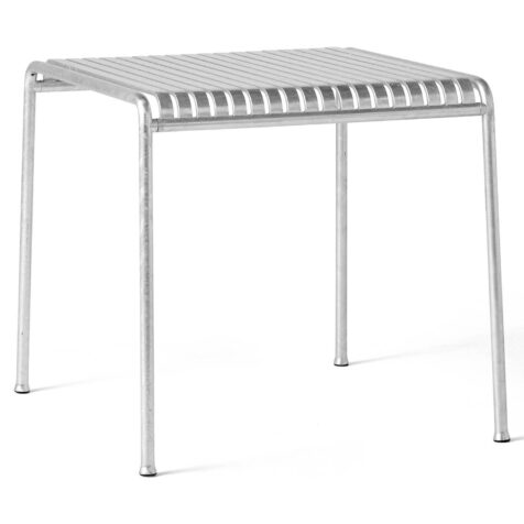 Produktbild på Palissade matbord 82x90 cm från Hay i galvaniserad stål.