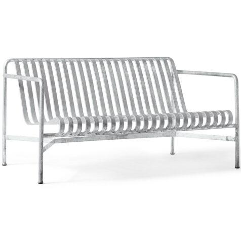 Produktbild på Palissade loungesoffa från Hay i galvaniserad stål.
