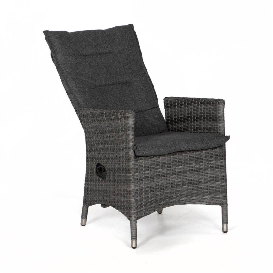 Georgia positionsstol i antracitgrått med mörkgrå dyna från Atleve.