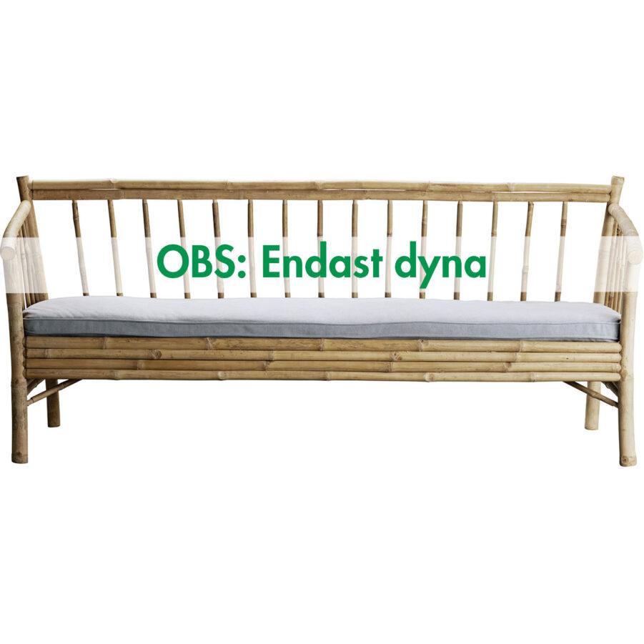 Sittdyna i ljusgrått till bambusoffa 190 från Tine K.