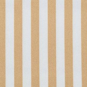 Tygprov på tyget Golden Yellow Stripe som används till dynor från Skagerak.