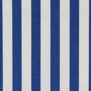 Tygprov på tyget Sea Blue Stripe som används till dynor från Skagerak.