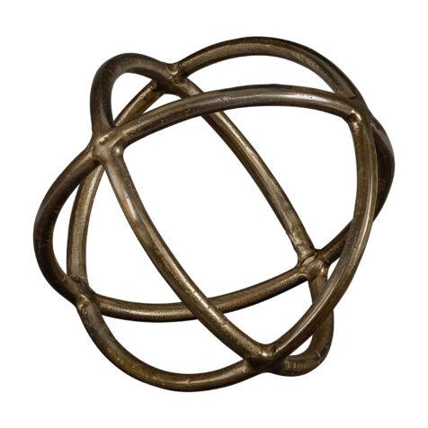Artwood carlo decor i mässingsfärgad metall.