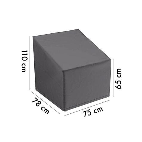 Aerocover möbelskydd för loungefåtölj, 75x78 höjd 65/110 cm