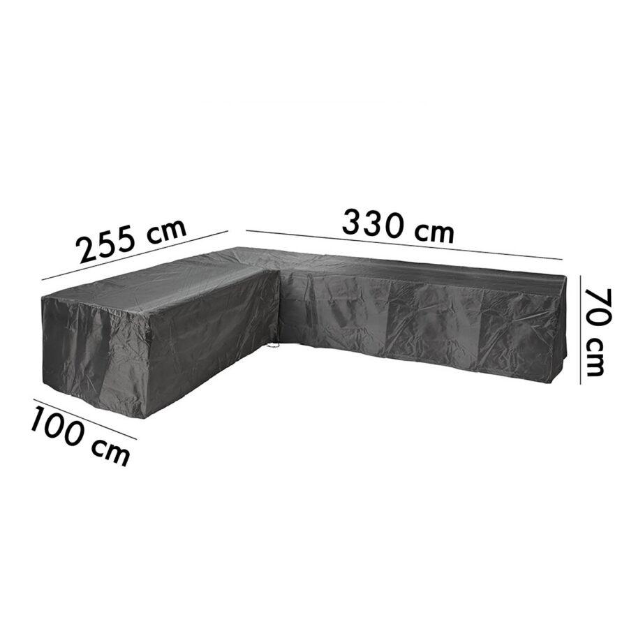 Aerocover hörnsoffskydd, 255H/330V höjd 70 cm