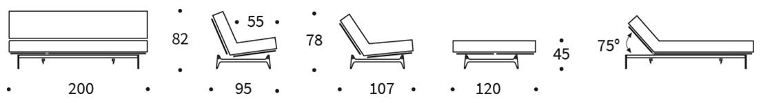 Mått på Aslak soffa från innovation.