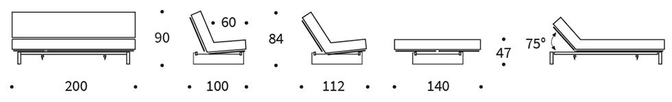 Mått på Minimum soffa från Innovation Living.