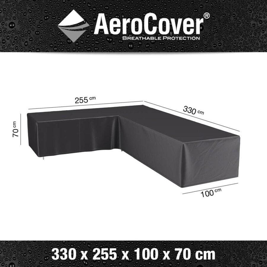 Mått på hörnsoffskydd 7946 från Aerocover.