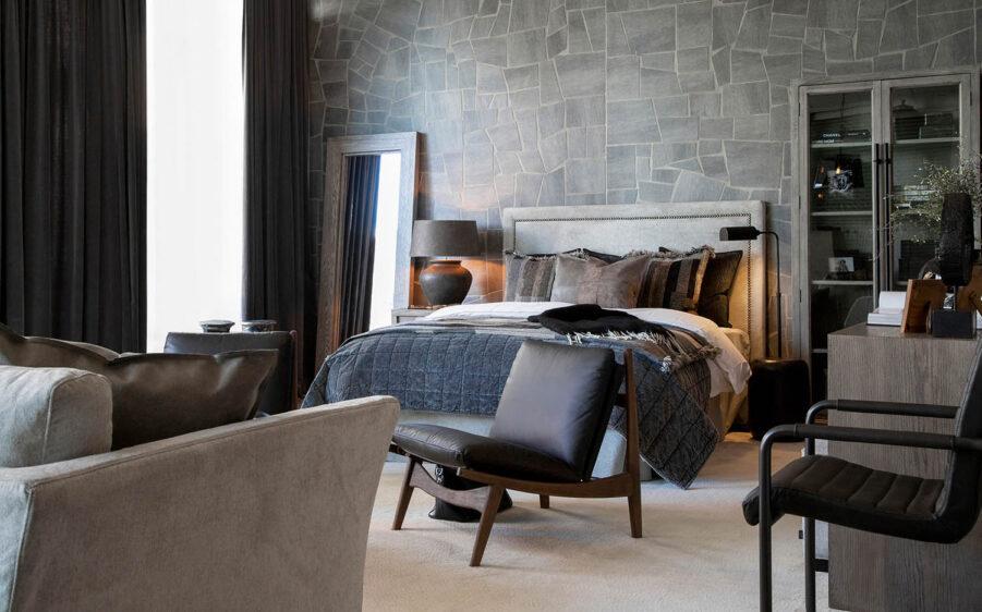 Miljöbild paris sänggavel, Hunter spegel från artwood