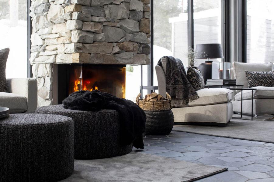 Miljöbild Cortina ottoman, Davao korg, Guilfrod soffa från artwood
