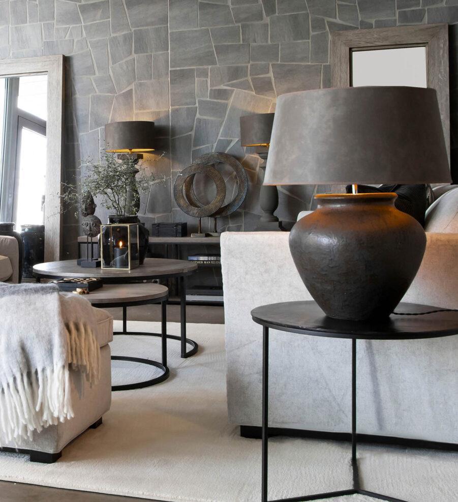 Miljöbild Modena bordslampa, classic leather, från artwood