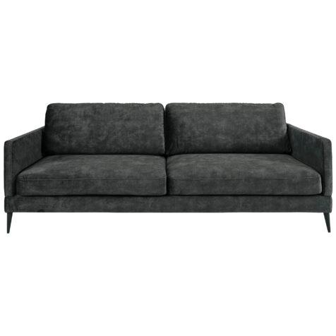 Andorra 3-sits soffa från artwood velvet dark grey