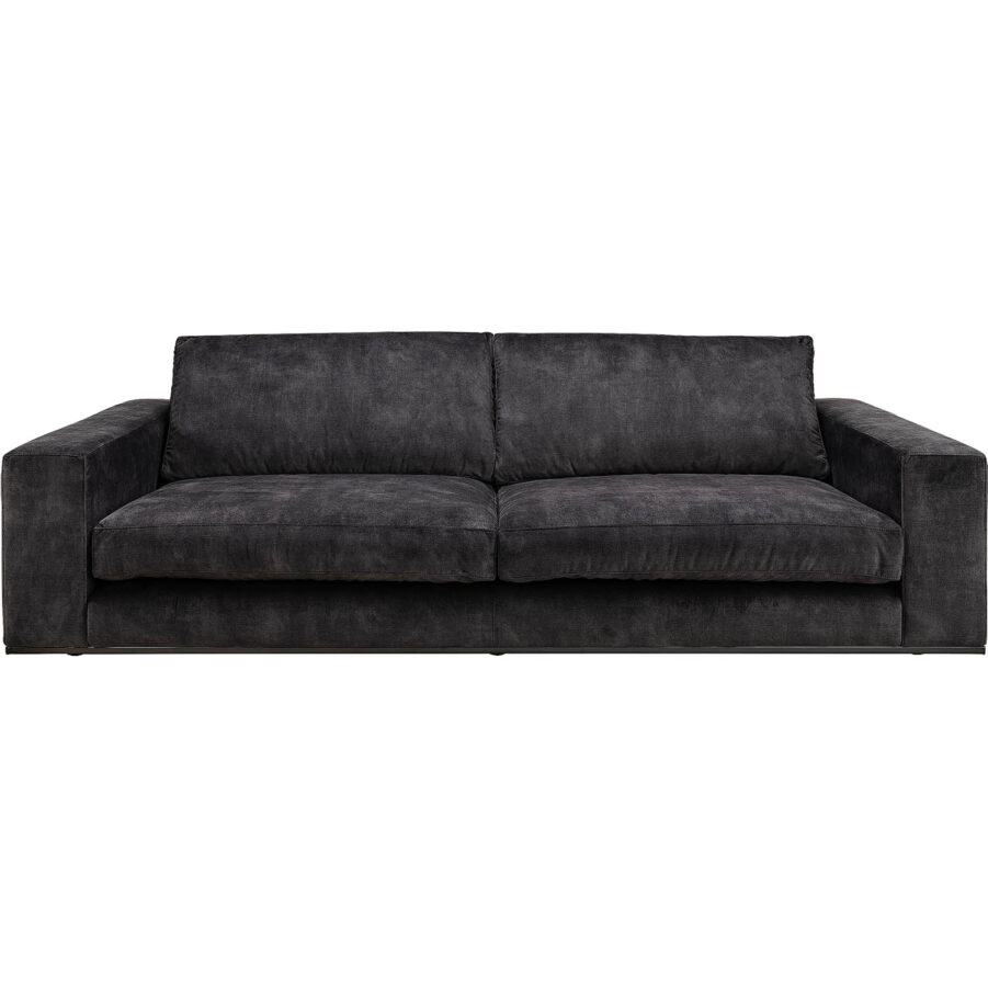 velvet 3-sits soffa från artwood velvet dark grey